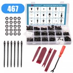 Voilamart 467 PCS Car Retainer Clips and Plastic Fasteners Kit - 19 Most Popular Sizes with Fastener Remover Push Pins Rivets Auto Door Trim Panel Clips Assortment Set Universal Fit for Ford Toyota