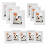 Voilamart White Picture Frames Set of 11 Multi Pack Photo Frame Set Collage Picture Frames - Display Three 8x10 in, Three 6x8 in, Five 5x7 in, with Wall Template and Hanging Hardware, White