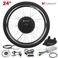 "Voilamart 24"" 48V1000W Front Wheel Electric Bicycle Motor Conversion Kit  E Bike Cycling Hub"