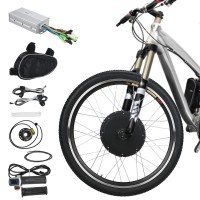 """Voilamart E-Bike Conversion Kit 26"""" Front Wheel 36V 500W Electric Bicycle Conversion Motor Kit with Intelligent Controller and PAS System for Road Bike"""