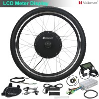 "Voilamart 26"" 48V 1000W Front Wheel with LCD Meter Electric Bicycle Motor Conversion Kit E Bike Cycling"