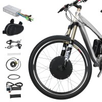 "Voilamart Electric Bicycle Kit 26"" Front Wheel 48V 1000W E-Bike Conversion Kit, Cycling Hub Motor with Intelligent Controller and PAS System for Road Bike"