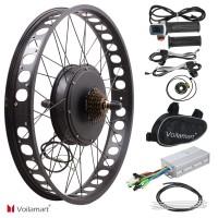 "Voilamart 48V 1000W 26"" Electric Bike Fat Tire Rear Wheel Bicycle Conversion Kit Hub Motor"