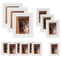 Voilamart Picture Frames Set of 23, Multi Pack Photo Frame Set Wall Gallery Kit - Display Three 6R 6x8 in, Nine 4R 4x6 in, Eleven 3R 3x5 in, with Wall Template and Hanging Hardware (23Pcs White)