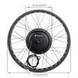 """Voilamart 26"""" 48V 1000W Fat Tire Front Wheel Electric Bike Bicycle Motor Conversion Kit"""