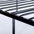 Voilamart Metal Bed Frame Twin Size 6 Legs Platform No Box Spring Needed with Headboard and Footboard Design Sliver Mattress Foundation for Boys Kids Adult Bedroom
