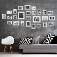 Voilamart Picture Frames Set of 26, Multi Pack Photo Frame Set Wall Gallery Kit - Display Two 8x10 in, Five 5x7 in, Seven 4x6 in, Twelve 3.5x5 in, with Wall Template and Hanging Hardware, White