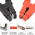 Voilamart 2 PCS Battery Jumper Cable Clamps 500A Heavy Duty Insulated Alligator Clips Battery Charging Connector Kit for Car Auto Vehicle